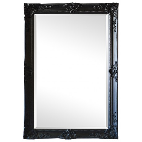 Beveled mirror in solid wood, 32x44 ins