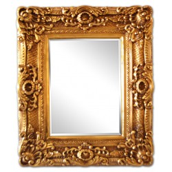 Golden frame with mirror, inner size 30x40 cm