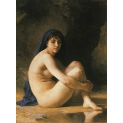 Seated Nude,Adolphe William Bouguereau,50x40cm