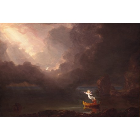 The Voyage of Life: Old Age,Thomas Cole,60x40cm