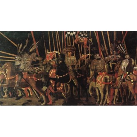 Battle of San Romano,UCCELLO Paolo,80x40cm