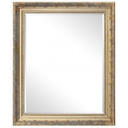 38x48 cm or 15x19, golden frame with mirror