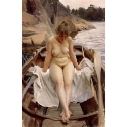 In Werner-s Rowing Boat,Anders Zorn,60x40cm