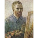 Self-Portrait in Fromt of thte Easel,Vincent Van Gogh,65.5x50.5cm