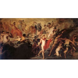 The Council of the Gods,Peter Paul Rubens,80x40cm