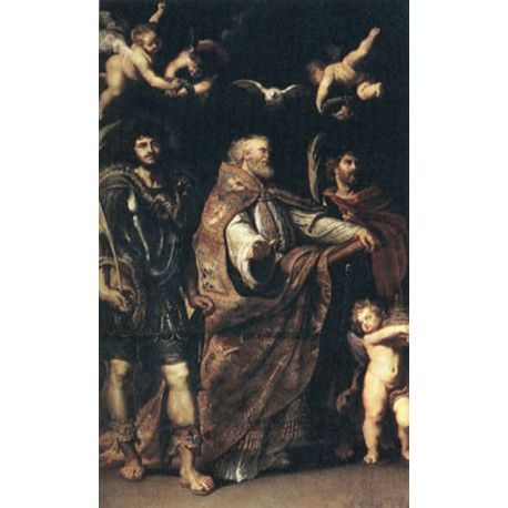 Saints Gregory,Maurus and Papianus, Peter Paul Rubens, 60x40 cm
