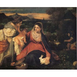 The Virgin with the Rabitl , Titian, 40x50 cm