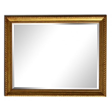 25x30 cm or 10x12 ins, golden frame with mirror