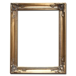 40x50 cm or 16x20 ins Wooden frame in golden color
