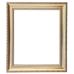 20x24 ins or 50x60 cm, wooden frame in golden color