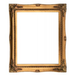 16x20 ins or 40x50 cm, wooden frame in golden color