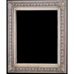 Wooden frame in silver color, 24x36 ins