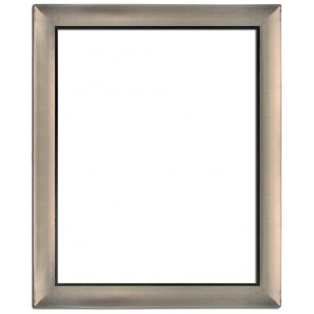 Silver frame in solid wood, 40x30 cm