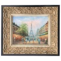 Paris, oil painting with frame, 20x25 cm