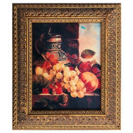 Fruits, oil painting with frame, 20x25 cm