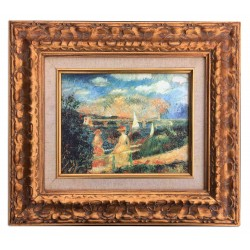 Impression, after Renoir, oil painting with frame, 20x25 cm