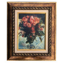 Floral, print oil painting with frame, 20x27 cm