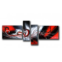 Abstract, includes 4 parts, 250x130 cm