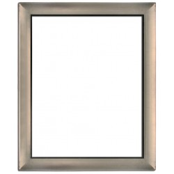 Silver frame in solid wood, 60x50 cm