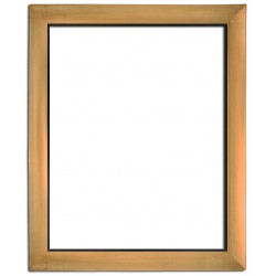 Golden frame in solid wood, 40x30 cm