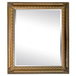 Beveled mirror in solid wood, 63x73 cm