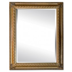 Beveled mirror in solid wood, 73x103 cm