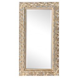 Beveled mirror in solid wood, 112x62 cm