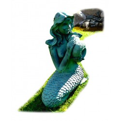 Mermaid, fountain for your garden 29x26x53 cm