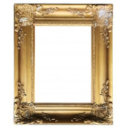 Wooden frame in golden color, 12x16 ins