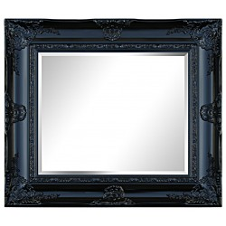 Beveled mirror in solid wood, 128x104 cm or 51x41 ins.
