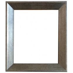 Silver frame in solid wood, 50x60 cm