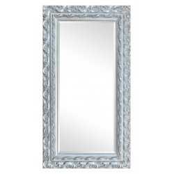 Beveled mirror in solid wood, 62x112 cm
