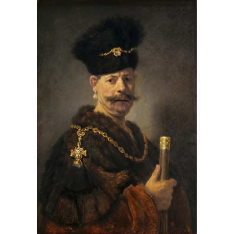 The Polish Nobleman or Man in Exotic Dress,Rembrandt,60x40cm