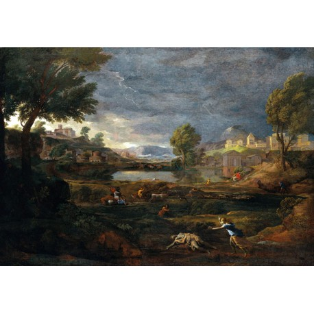 Strormy Landscape with Pyramus and,Nicolas Poussin,60x40cm
