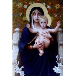 Madonna, hand-painted oil painting, 90x60 cm