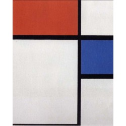 Composition with Blue and Red, Piet Mondrian 50x60 cm