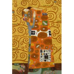 After KLimt, hand-painted oil painting, 90x60 cm