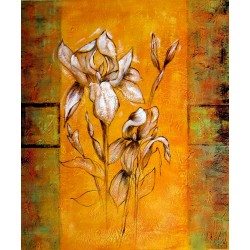 Abstract roses oil painting on canvas