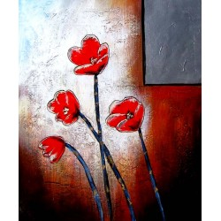 Flowers oil painting on canvas