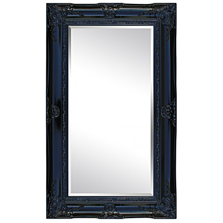 Beveled mirror in solid wood, 35x68 ins