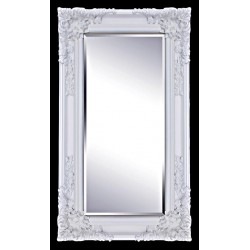 Beveled mirror in solid wood, 25x47 ins