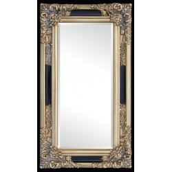 Beveled mirror in solid wood, 29x51 ins