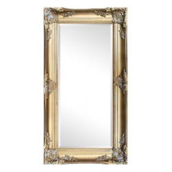 Beveled mirror in solid wood, 110x60 cm