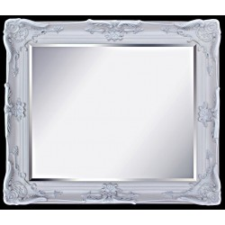 Beveled mirror in solid wood, 24x46 ins