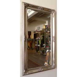 Whole size 56x106 cm, beveled mirror in solid wood