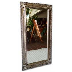 Beveled mirror in solid wood, 22x42 ins